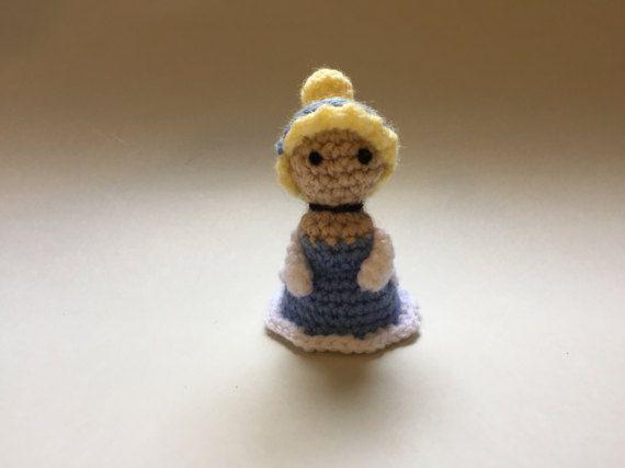 Cinderella Crochet Doll Handmade Crochet DollMini Amigurumi
