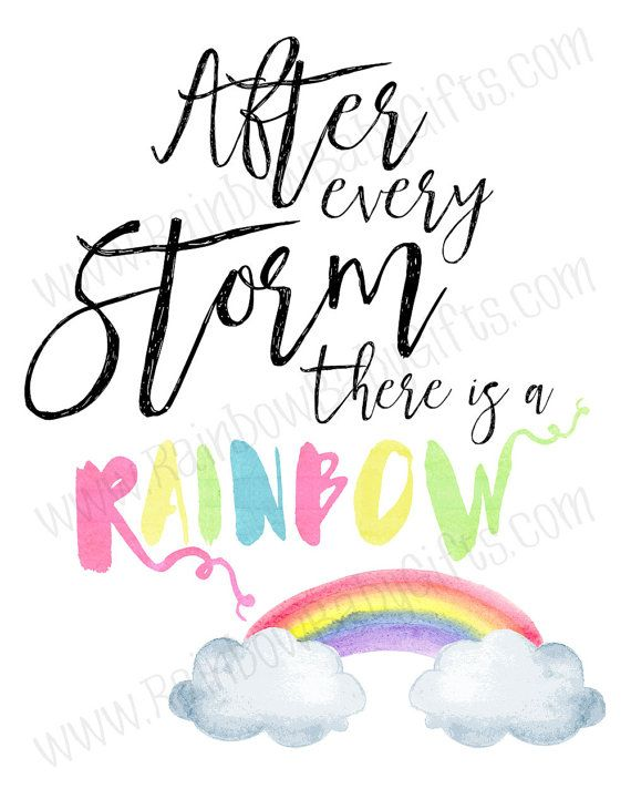 Rainbow Baby Nursery Wall Art After Every by RainbowBabyGifts