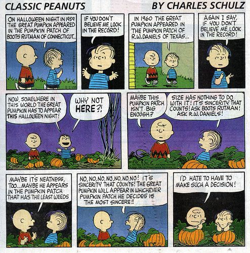 pumpkin patch with linus and charlie brown - Charlie Brown Halloween Cartoon