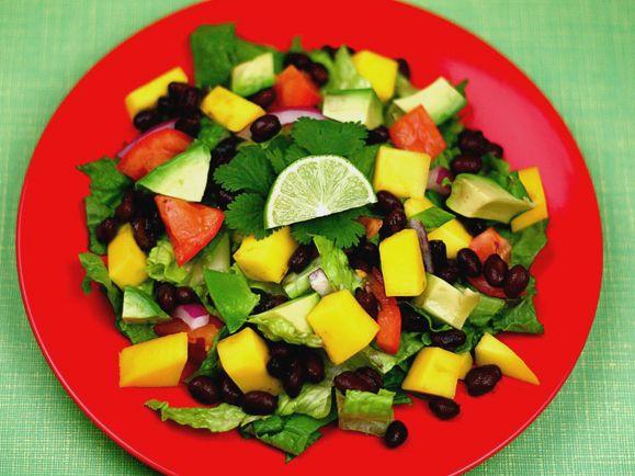 Black Bean, Avocado, and Mango Salad with Cilantro and Lime | Recipe ...