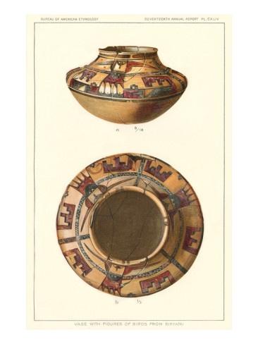 Hopi Pot with Birds