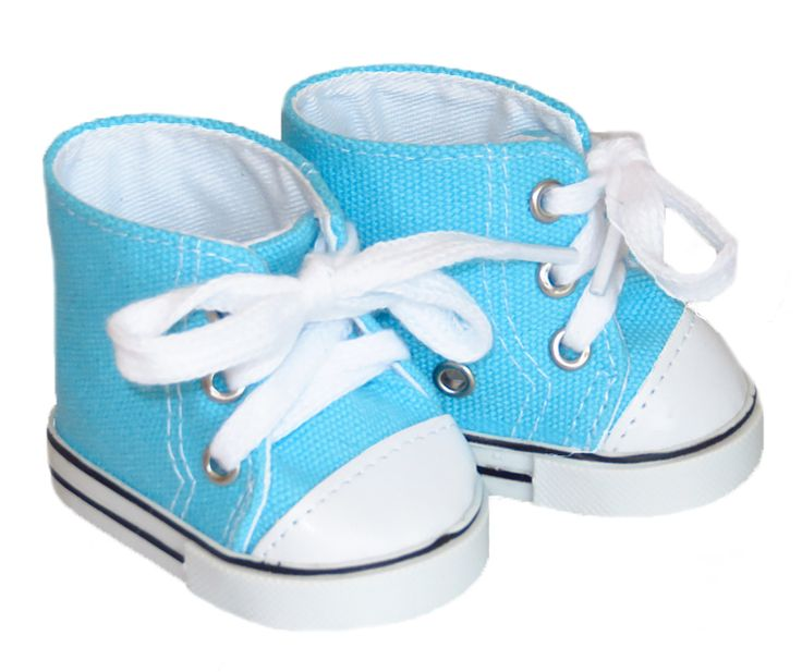 American Boy Doll Shoes.  Silly Monkey - Turquoise High-Top Sneakers, $6.50 (http://www.silly-monkey.com/products/turquoise-high-top-sneakers.html)