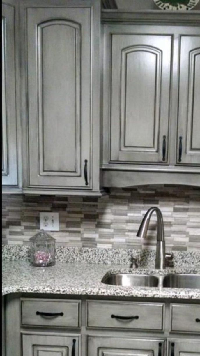 Home Depot Kitchen Cabinet Refinishing 2020 In 2020 Glazed Kitchen Cabinets Stained Kitchen Cabinets Kitchen Backsplash Designs