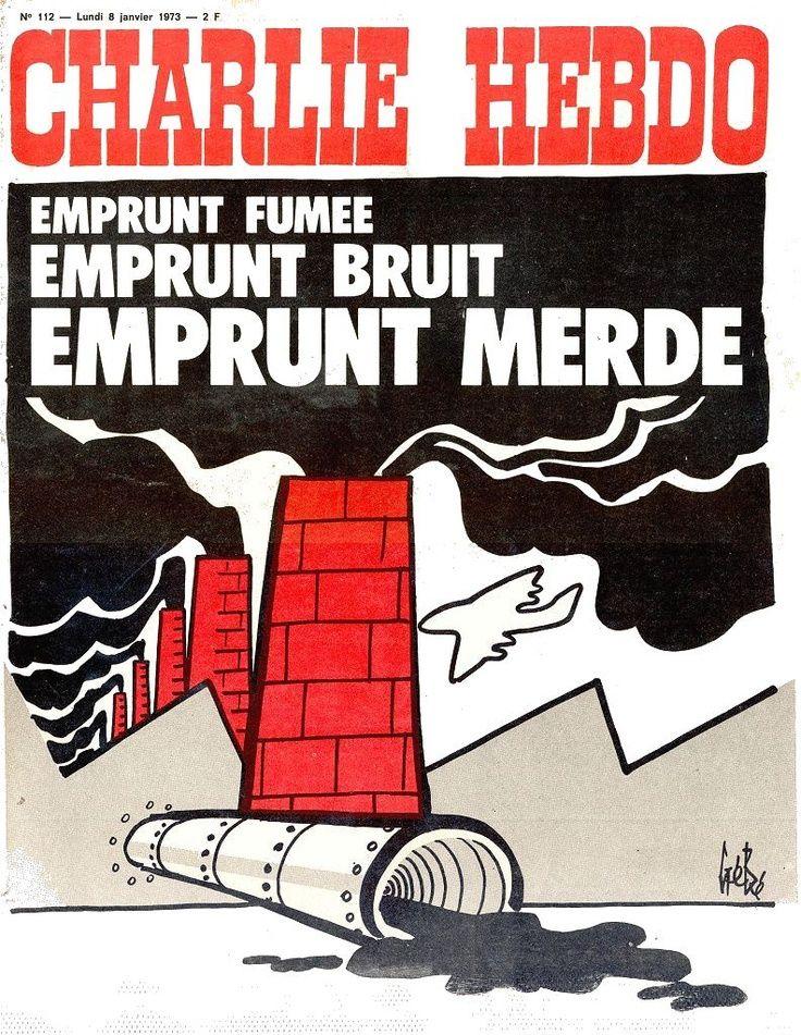 Charlie Hebdo - # 112 - 8 Janvier 1973 - Couverture : Gébé