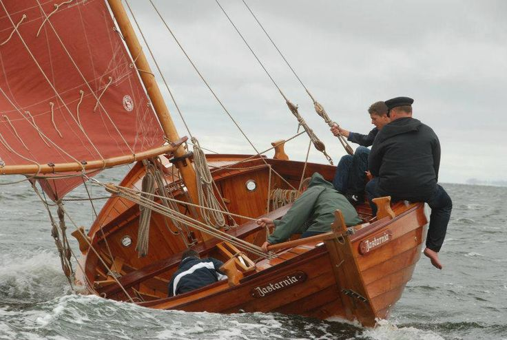 """Mërk"" of Jastarnia, Poland, a traditional Kashubian workboat design built by Struck-Boat of Jastarnia https://www.facebook.com/pages/Struck-Boat/1466696483575114 and https://www.facebook.com/merkjastarnia"