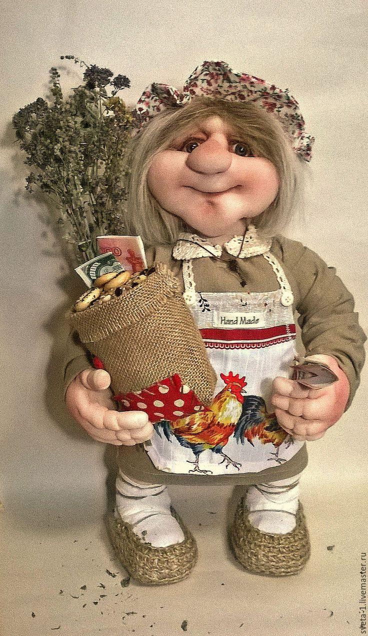 Купить домовушка - бежевый, домовушка, оберег для дома, семейный очаг, капроновая кукла, капрон