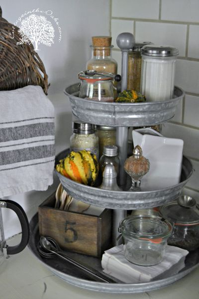 Beverage Station - this may have been designed for Fall, however I see this as a party favorite anytime of year.