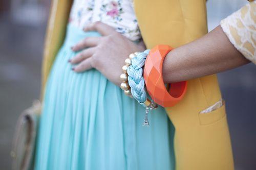 : Colors Combos, Aqua Coral, Spring Colors, Blue Skirts, Cute Bracelets, Colors Palettes, Pastel Colors, Summer Colors, Bright Colors