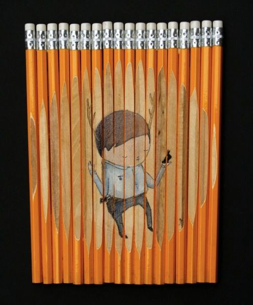 A drawing on a drawing tool - too cute!! Would be cute with paint brushes too!