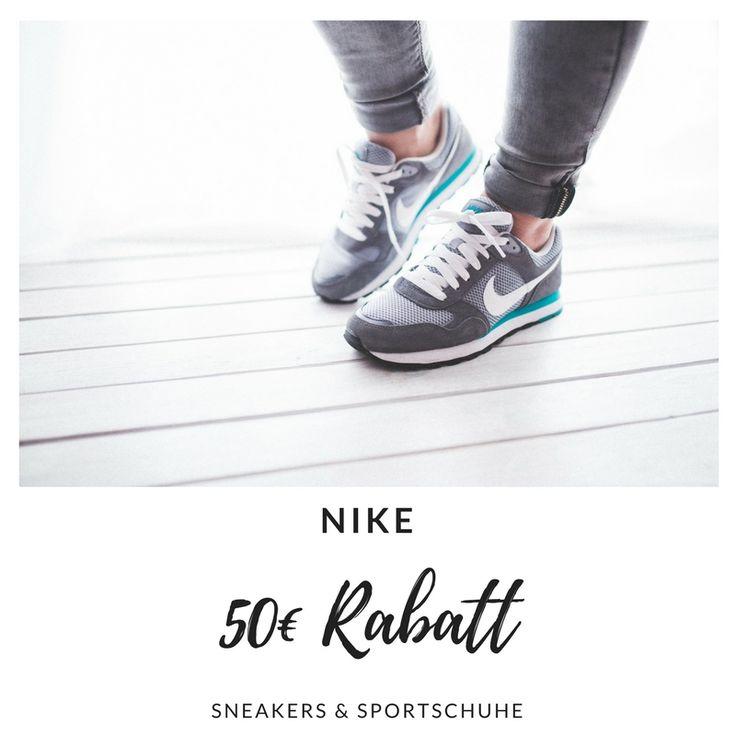 Lust auf neue Nike Sneakers? Aktuell bietet der Nike Online Store bis zu 50€ Rabatt auf ein ausgewähltes Sortiment an Sportschuhen. Suche nach deinen modischen Lieblingsschuhen von Nike und zahle weniger - der Link leitet weiter zur Website.