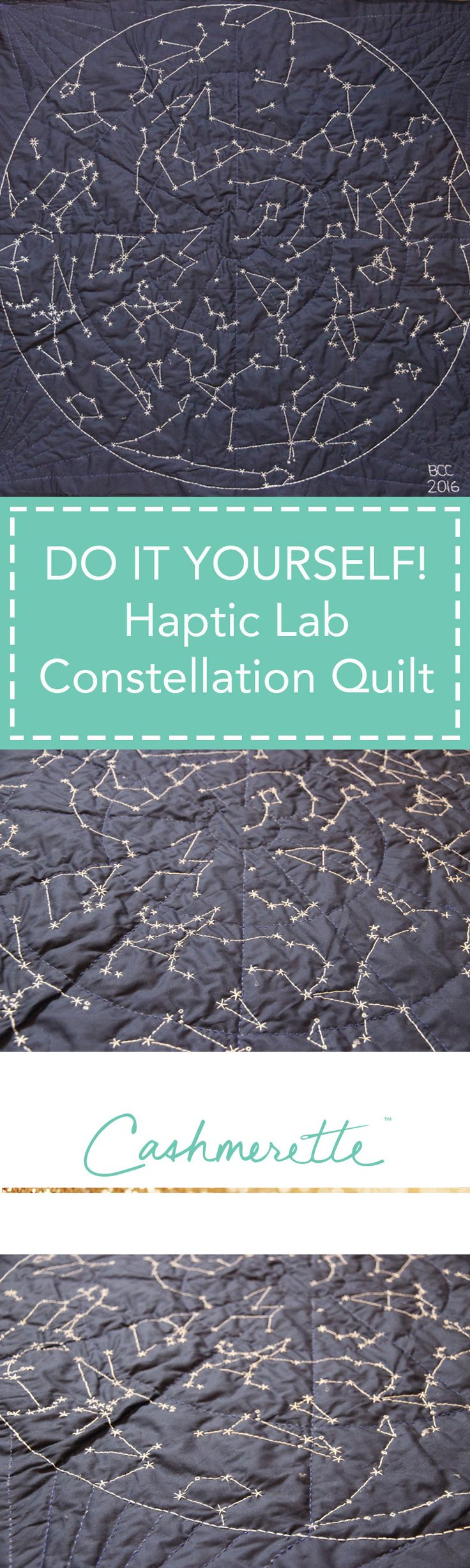DIY Constellation Hand Quilt by Cashmerette