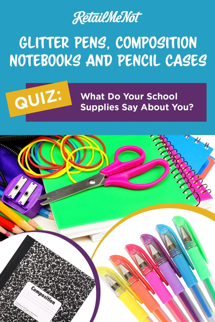 Find out what your school supplies reveal about your personality. Because there is a difference between those who use a mechanical pencil vs. a yellow No. 2.