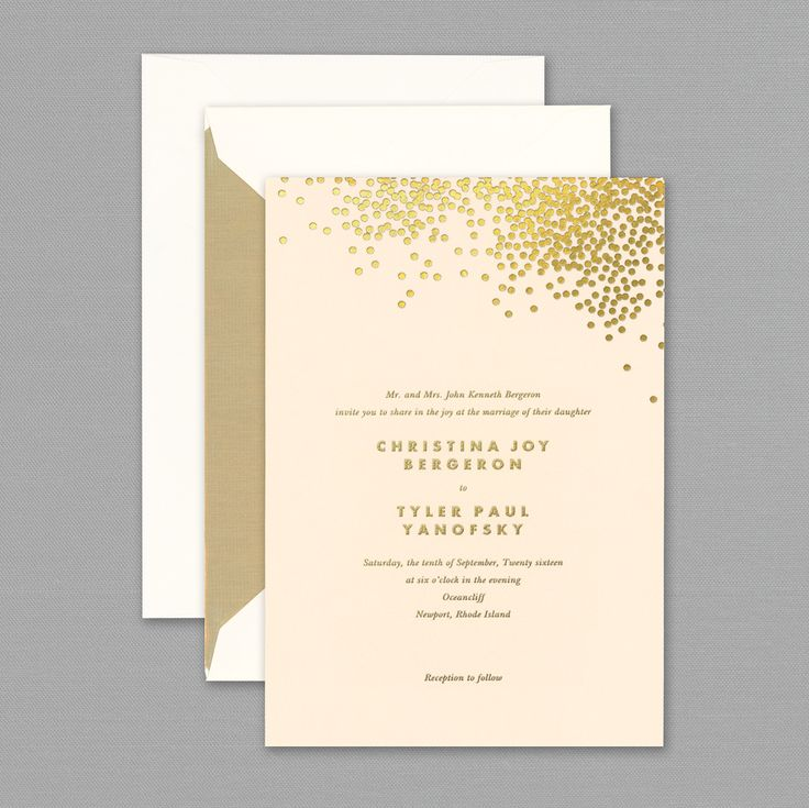 wedding renewal invitation ideas%0A Vera Wang Gold Confetti Engraved Blush Wedding Invitation