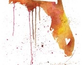 Florida: Watercolor, Sweet, Heart, Floridagirl, Things, U.S. States, Homes