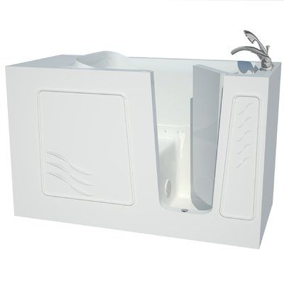"Therapeutic Tubs Captains Series 60"" x 30"" Air Jetted Bathtub Drain Location: Right"