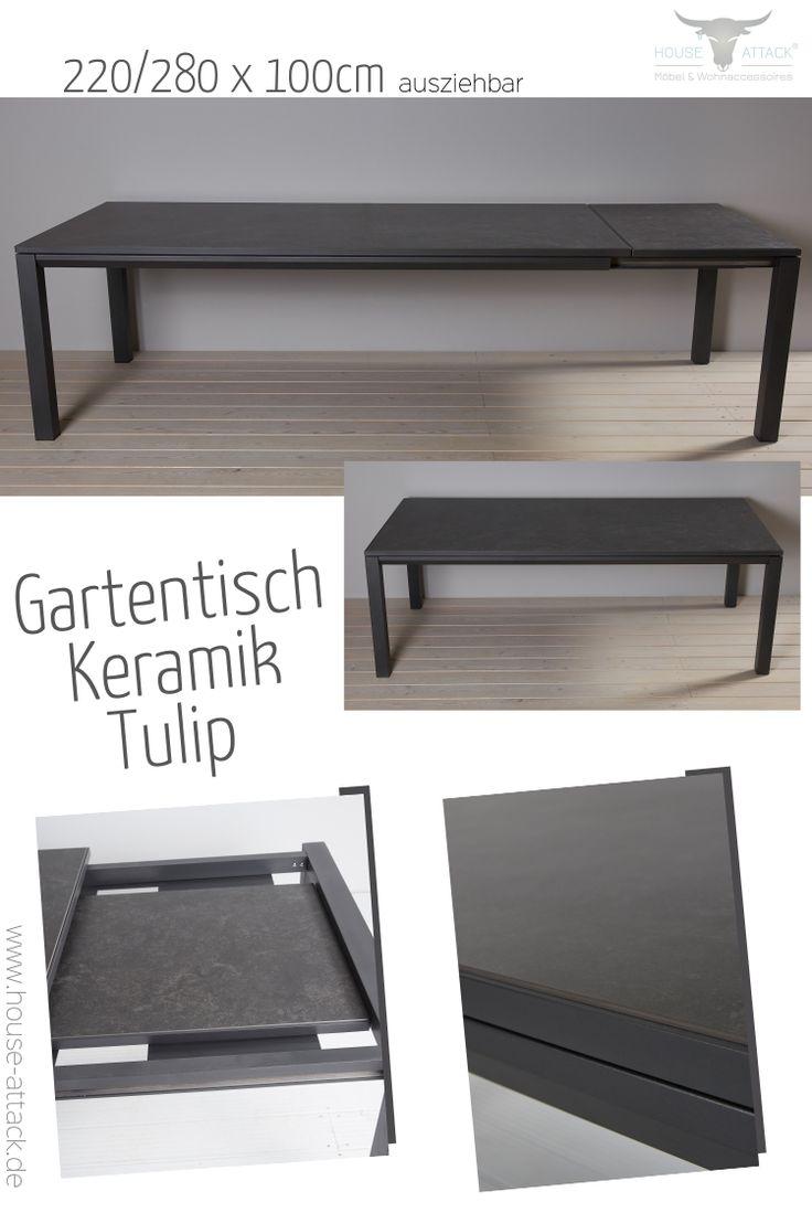 Lc Garden Gartentisch Tulip 220 280 X 100 Cm Ausziehtisch Keramik