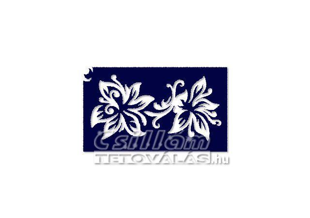Testfestő minta sablon 5x8cm VI-10 Liliom virág