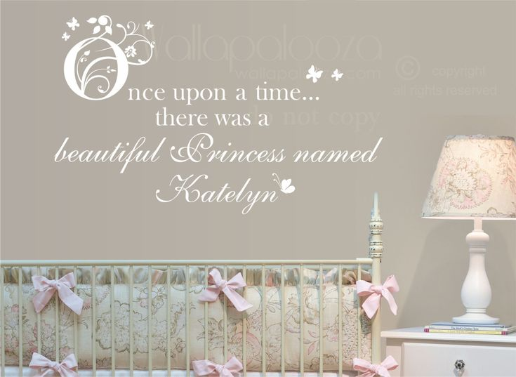 Once Upon A Time Princess Wall decal  by WallapaloozaDecals