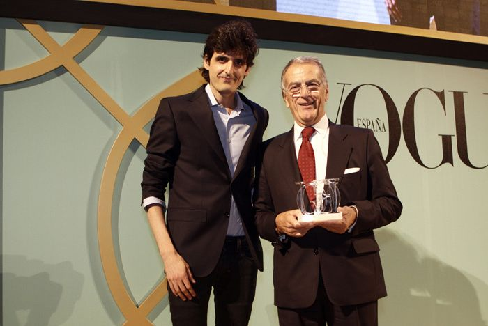 Premios Vogue Joyas 2012. Joaquín Trías junto Jacques Thomas, director de marca para Europa Occidental de la firma relojera A. Lange & Sohne, cuyo modelo Lange Zeitwerk Striking Time se llevó el galardón Reloj Masculino.