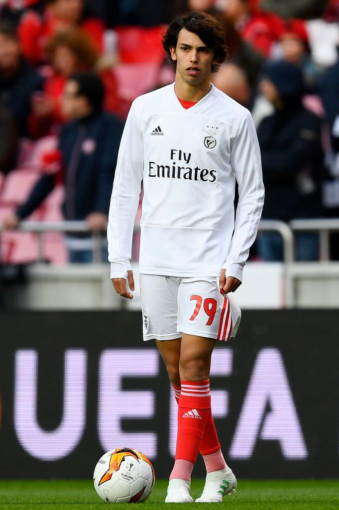 Joao Felix Of Benfica Looks On During His Warm Up Prior To The Uefa Felix Premier League Football Soccer Boys