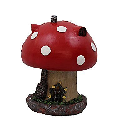 Garden Fairy Mushroom House Solar Decorative Garden Ornament secret Garden