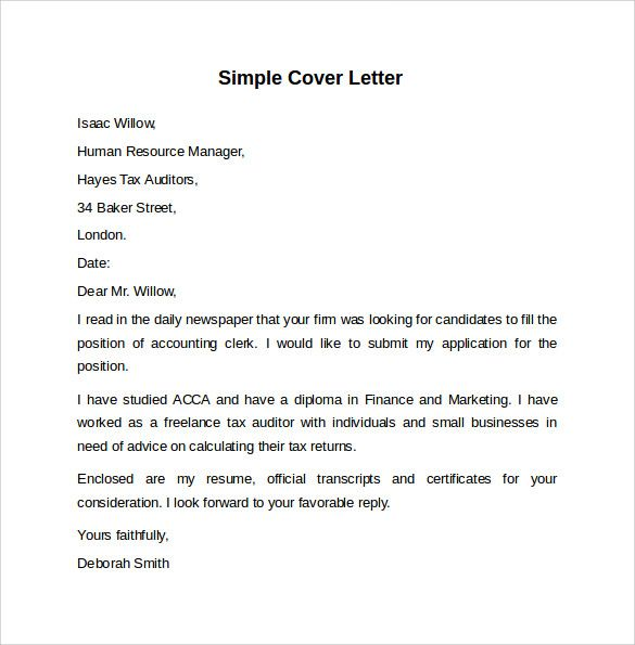 Resume Examples Me Nbspthis Website Is For Sale Nbspresume Examples Resources And Information Simple Cover Letter Cover Letter Template Letter Template Word