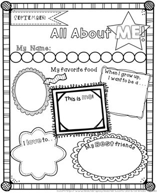 17 best images about all about me my body family for for About me template for students