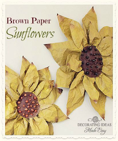 I just finished making these sunflowers out of brown paper! They were…