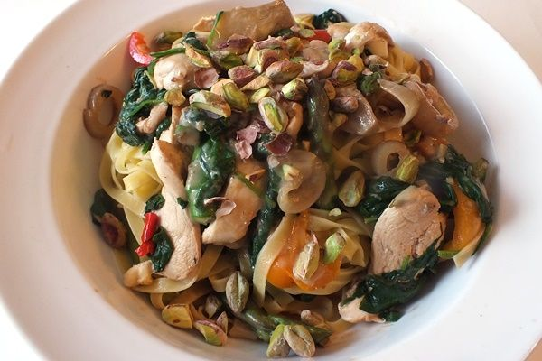 Creamy Spring Vegetables and Chicken Tagliatelle (Dairy-Free)