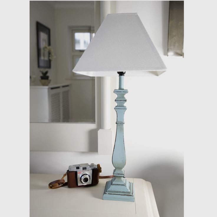 The 25 best shabby chic table lamps ideas on pinterest shabby furniture ideas shabby chic table lamp with white lamp shades and blue body lamp mozeypictures Images