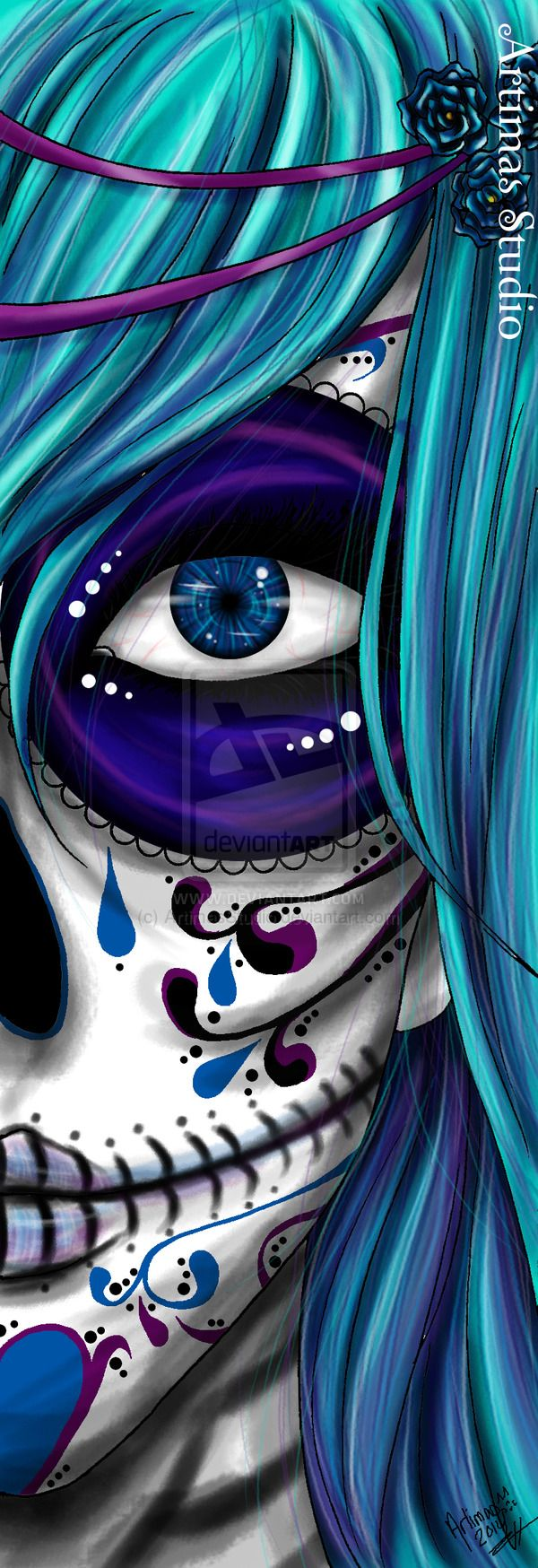 Blue Death by ArtimasStudio.deviantart.com on @deviantART
