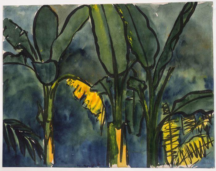 "Emil Nolde, ""Palmen"", 1913/14 -"