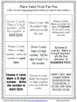 Here's a Think-Tac-Toe board and related materials for place value through the billions.Large Numbers, Tic Tac To, Coaches Corner, Classroom Freebies, Choice Boards, Math Ideas, Place Values, Math Coaches, Places Values
