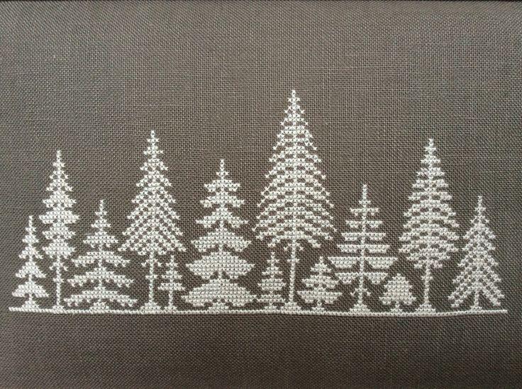 Bildergebnis für stickdecke weihnachten Baum Haus weihnachtsmann