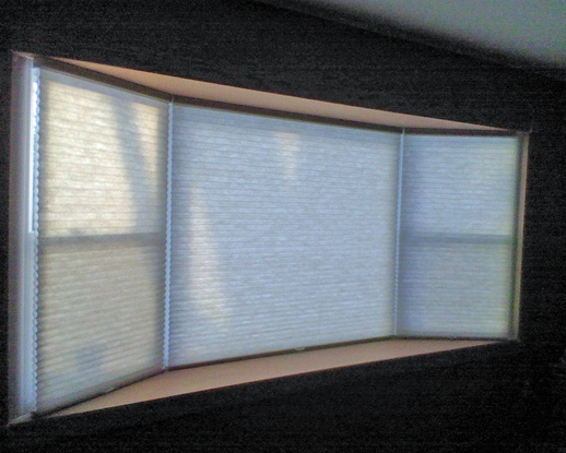 Window treatments for bay windows...what you need to know before you buy   Window treatment ideas by Bob The Blind Guy