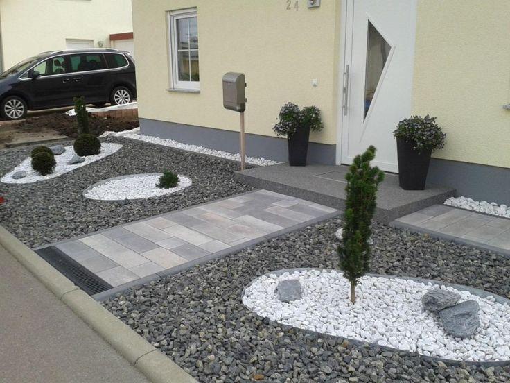 Die besten 25+ Kies steine Ideen auf Pinterest Gartengestaltung - vorgarten modern kies