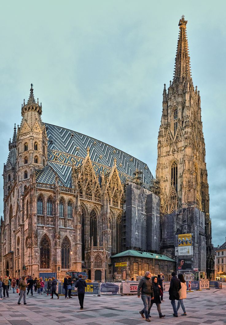 https://flic.kr/p/D4wF4q | St Stephen Cathedral, Vienna | When you go to Vienna, the cathedral photo is a must. Too bad for the scaffolding. Stitched with Autopano