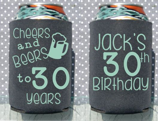 30th Birthday  Cheers and Beers to 30 Years by GlitzyShoppe