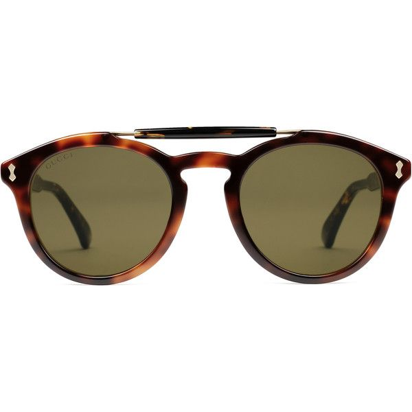 d73fd7e8dc1 Gucci Round-Frame Acetate Sunglasses (1.095 BRL) ❤ liked on Polyvore  featuring men s fashion