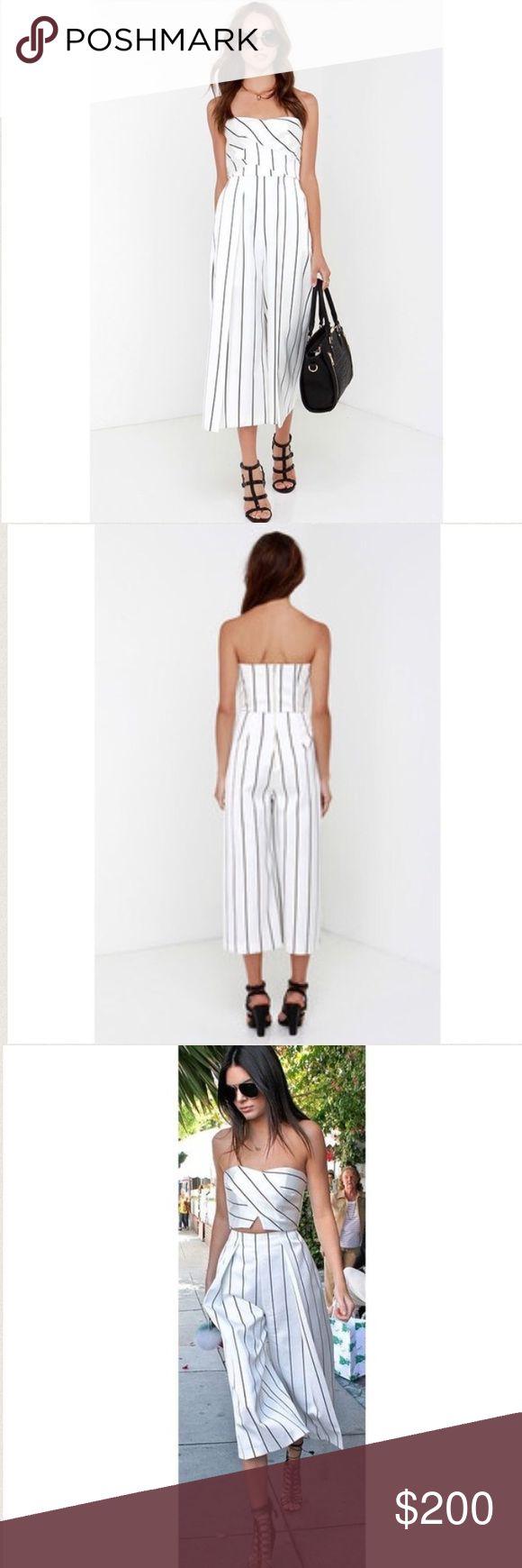 Keepsake True Awakening Striped Jumpsuit size XS New Keepsake True Awakening Black and White Striped Jumpsuit size XS. Similar to the one kendall jenner is wearing in the last picture Zara Other