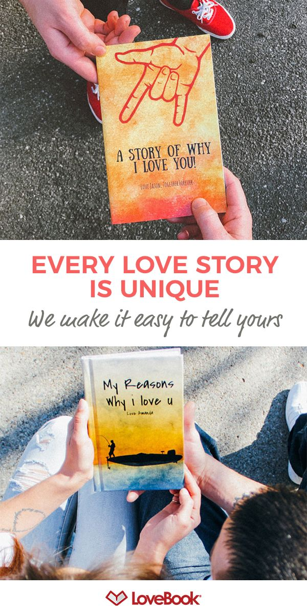 Turn your great love into a one-of-a-kind story with LoveBook. Create a personalized book that lists all the reasons why you love someone. Get started at lovebookonline.com.