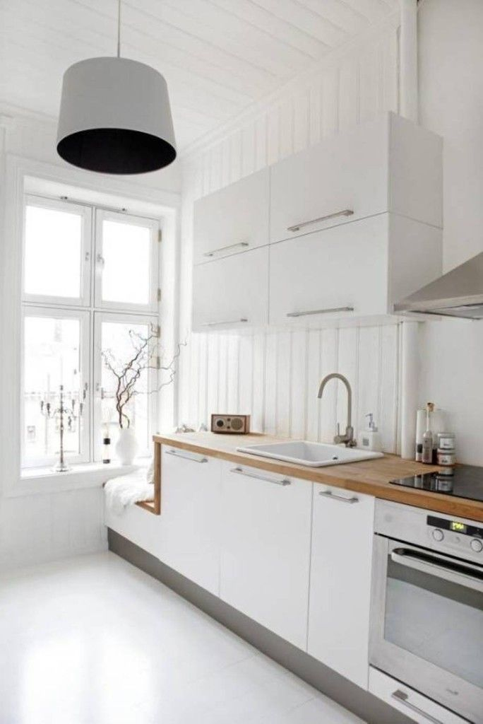 23 Beautiful White Scandinavian Kitchen Designs