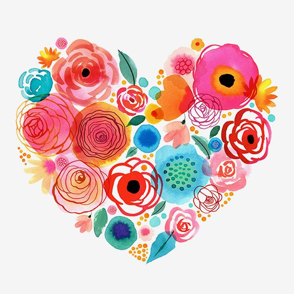 Margaret Berg Art: Flower+Gems+Heart