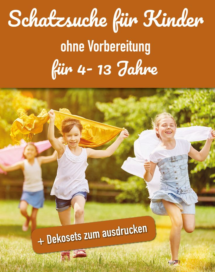 Schatzsuche für Kinder von  4- 13 Jahren – Cocolino Spieleverlag I Schatzsuchen und Krimidinner