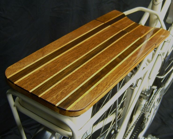 Wooden Rear Bike Rack  This Would Be Pretty Sweet....get It