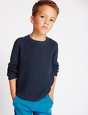 Pure Cotton Textured Jumper (1-7 Years)