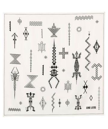 Silk scarf / Foulard Signes berbères. Serge Lutens.