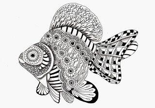 Efie goes Zentangle - fish