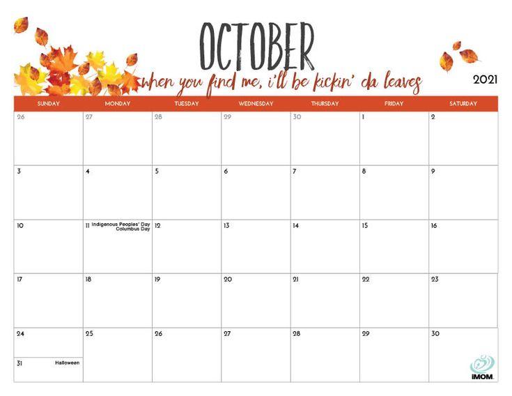 2021 printable calendars for moms imom mom calendar