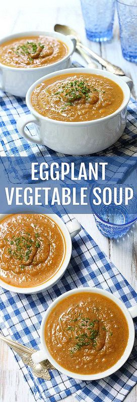 This Eggplant Vegetable Soup  is light and quite filling at the same time.  Very easy to make.